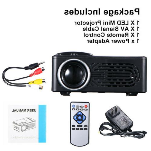 1080P HD LED Projector 3D Theater Cinema USB AV
