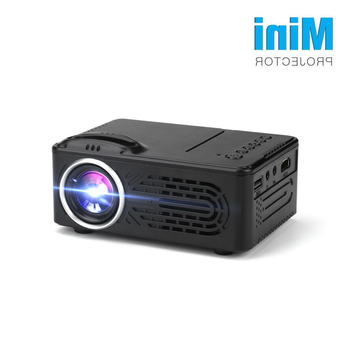 1080P Cinema LED LCD Mini Projector VGA HDMI Movie TV