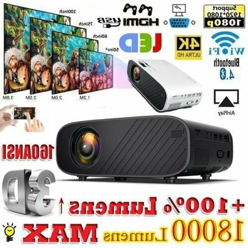 4k 1080p hd wifi bluetooth 3d led