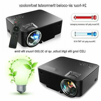 1080P HD 3D LED Projector Cinema 4K Wireless 2020