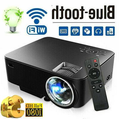 1080P HD 3D LED Mini Video Projector Cinema Wireless