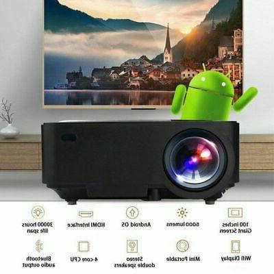 1080P HD Portable 3D Projector Wireless 2020