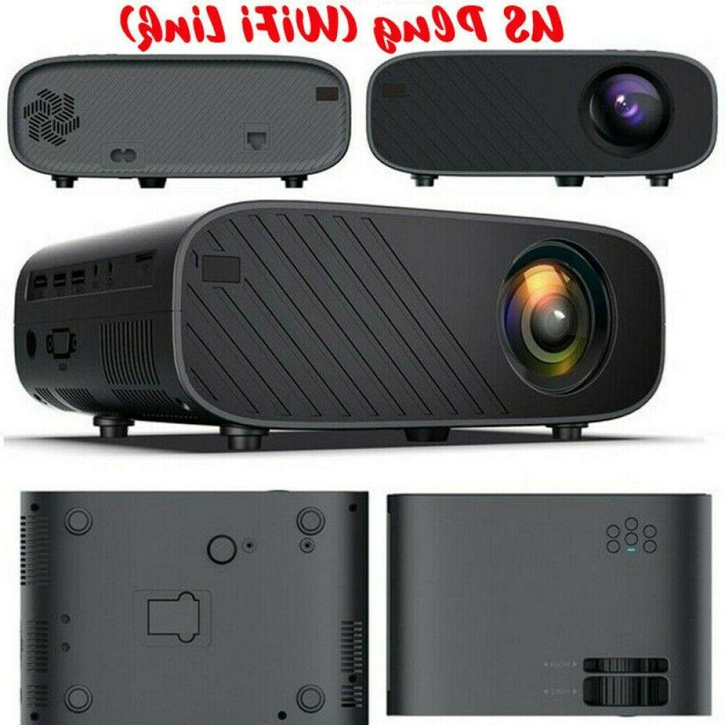 Portable 1080P 3D Video Projector Home Lumens