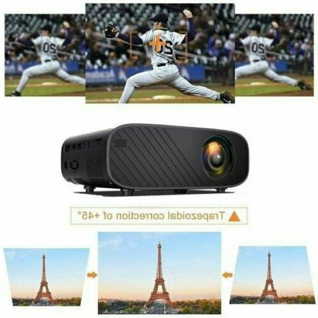 Portable 1080P HD WiFi 3D LED Video Projector Home Lumens