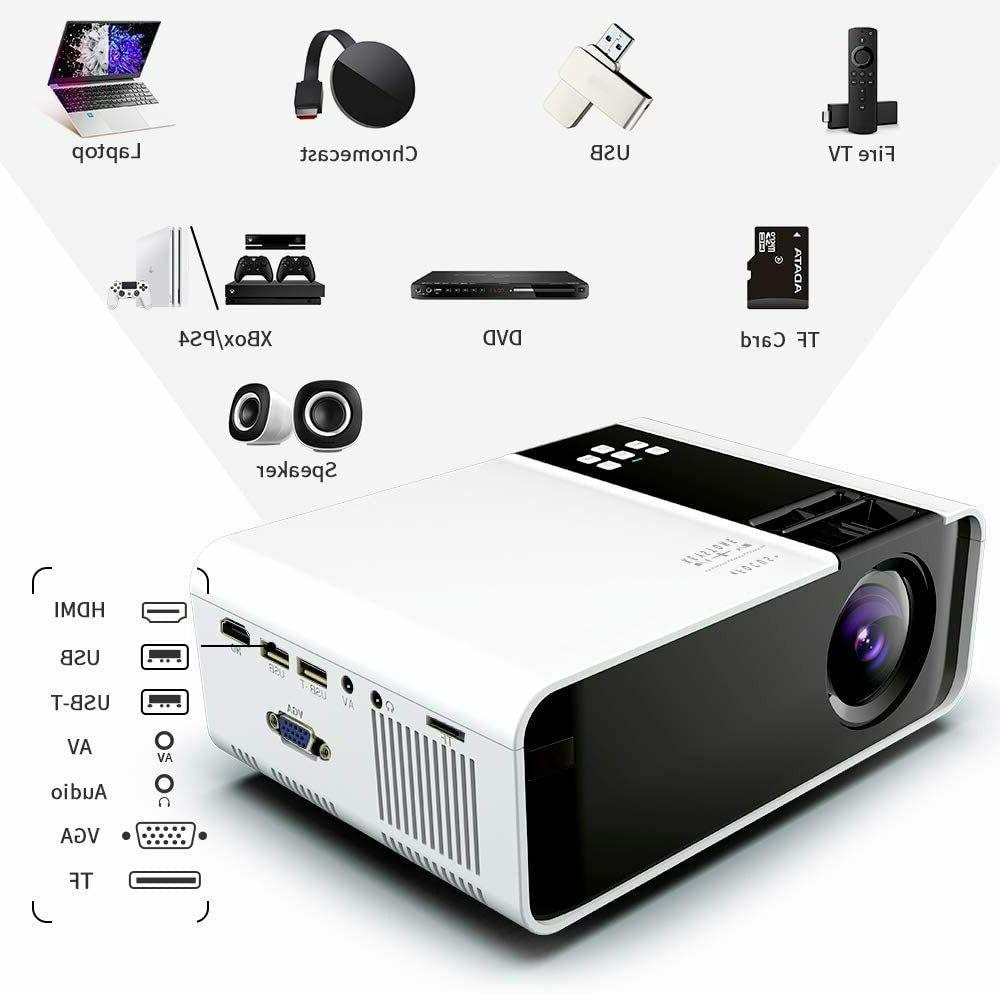 """1080P Video Projector Theater HDMI 200"""" Screen"""