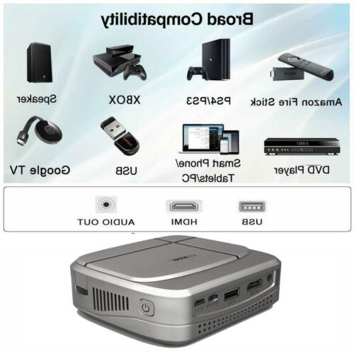 1080P Projector Miracast & Free 3D