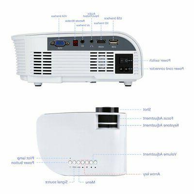 1080P Mini HD 3D Projector Theater Multimedia AV HDMI NEW
