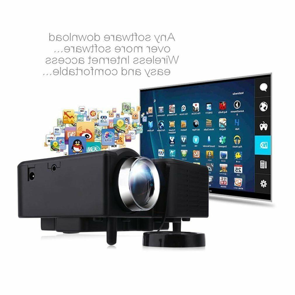 1080P LED Projector Home Cinema Multimedia USB TF DVD
