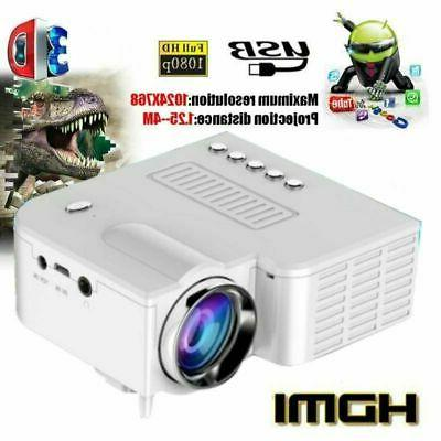 1080P HD Projector Home Cinema Theater TF DVD