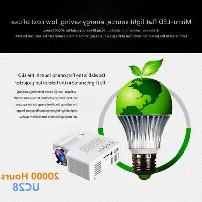 1080P LED Projector TF HDMI DVD