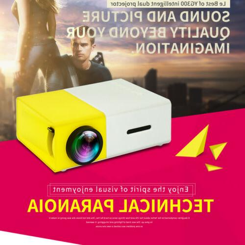 1080P Mini Portable Projector YG300 Multimedia LED LCD Home