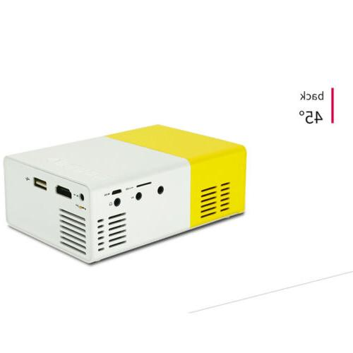 1080P Mini Portable Projector YG300 LED LCD Home Theater USB HD