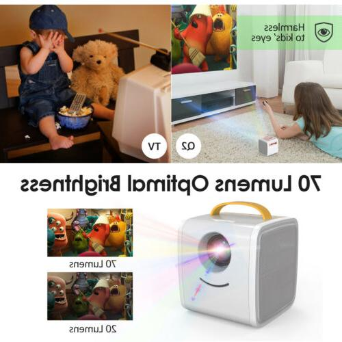 Mini Children's 3D 1080P Home Theater AV TF LCD US