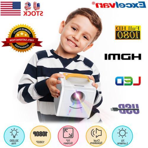 1080p mini projector multimedia home theater tf