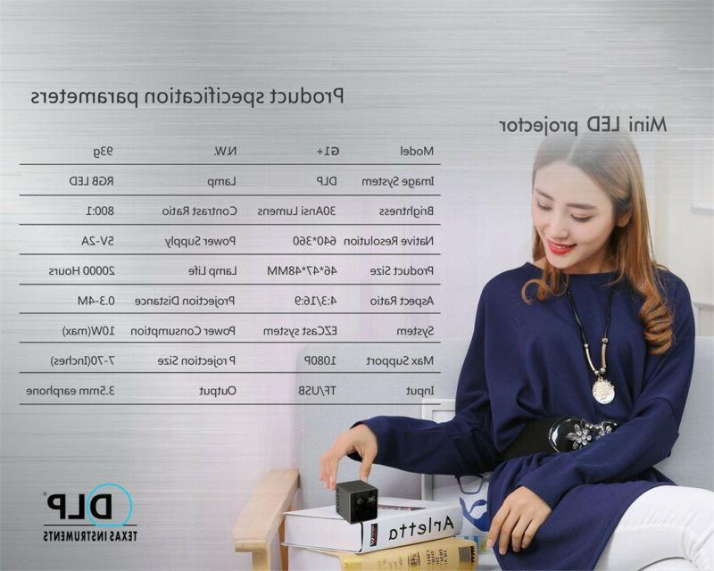 1080P Mini WiFi Projector Portable Home Business