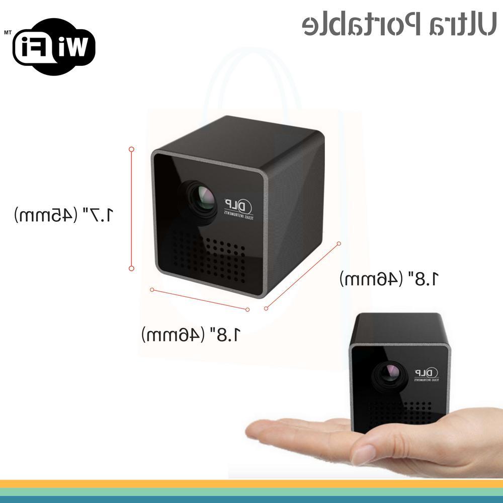 1080P HD Mini Wireless DLP Projector LED Theater Multimedia