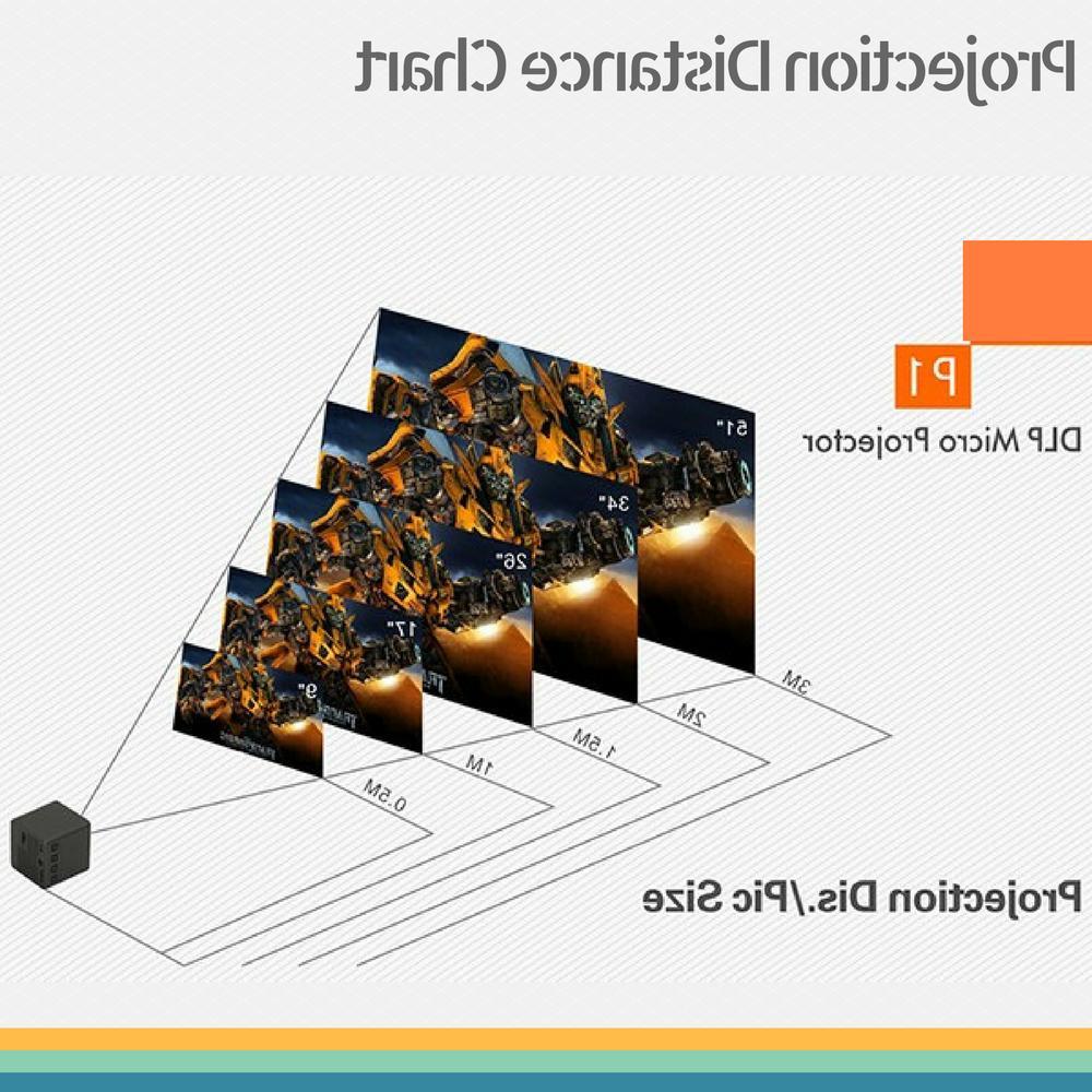 1080P Mini Wireless DLP Projector Portable LED Home Multimedia