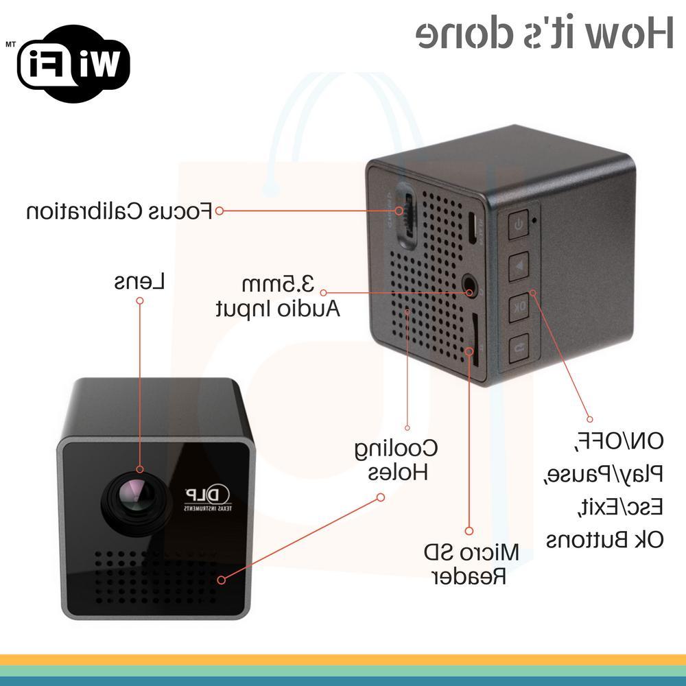1080P HD Mini Wireless DLP LED