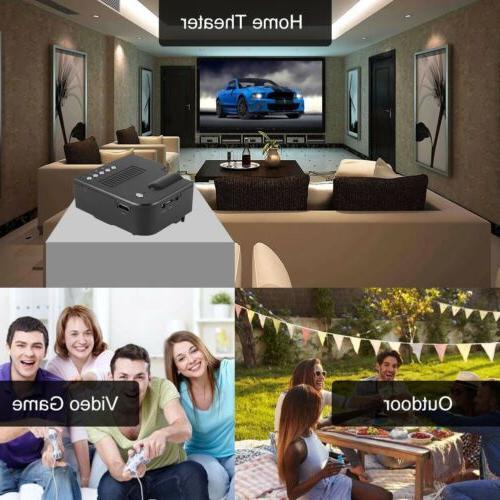 1080P Mini Projector Theater Multimedia USB