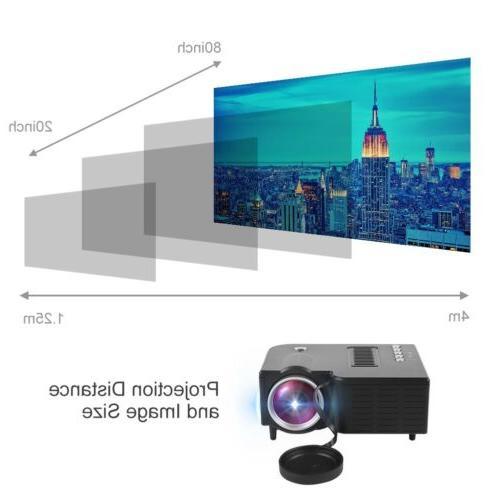 1080P Projector Theater Multimedia USB