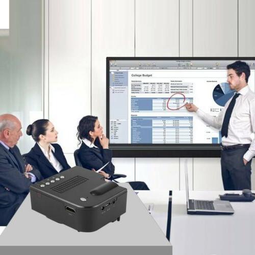 1080P Portable Projector Home Theater Cinema Multimedia HDMI VGA AV USB