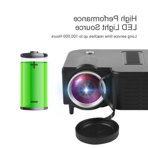 1080P Portable Mini Projector Theater Multimedia USB