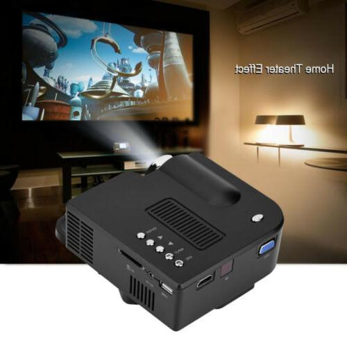 1080P Mini LED Projector Theater Multimedia HDMI VGA USB
