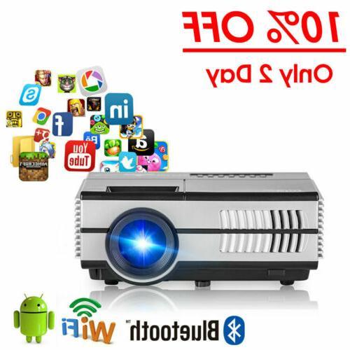 2800lumen HD Smart Portable Mini WiFi Bluetooth Projector Ai