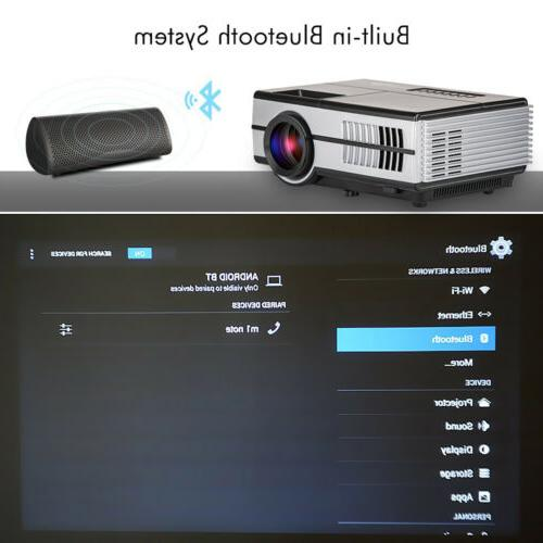EUG LED Projector Theater USB