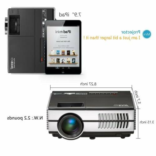 Eug Mini Projector VGA AV Video