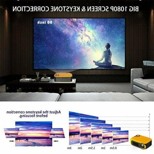 18000LM Mini 1080P Portable Pocket Movie Projectors Home Theater