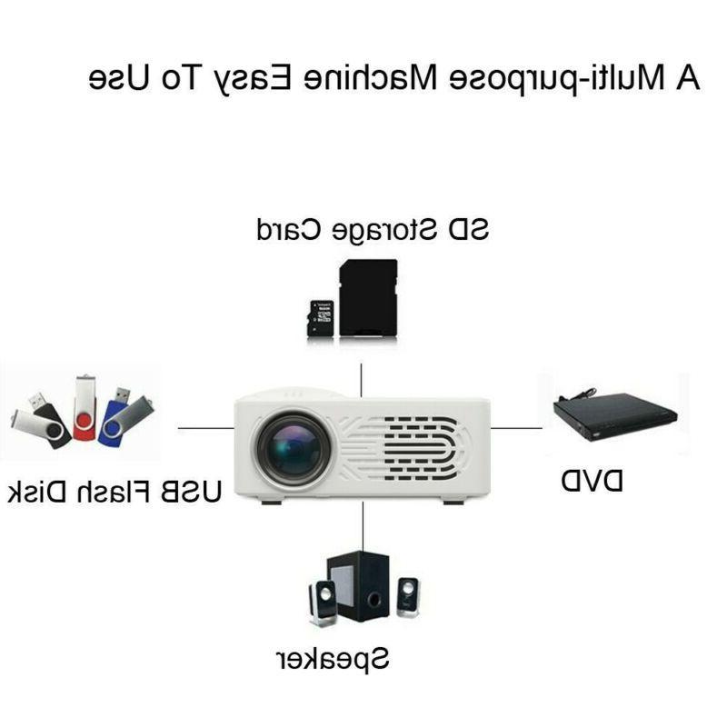 700 Lumens 3D 1080P Full HD Mini Projector LED Multimedia Ho
