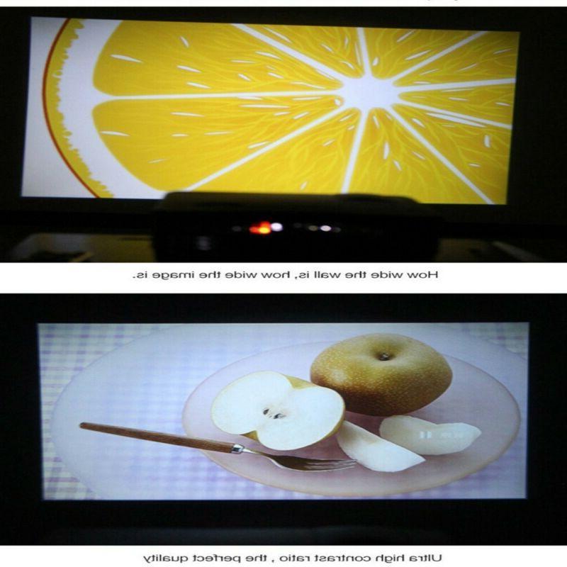 Full HD Mini Projector LED AV USB