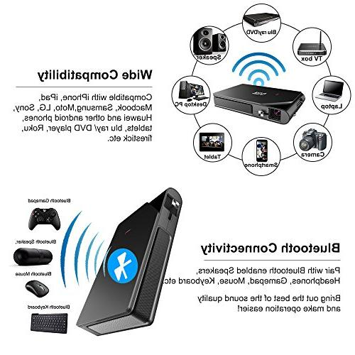 Mini Wireless Bluetooth Projector Smart WiFi HD Home Theater Built-in HDMI Audio Pico 1080P for Tablet Camera PS4