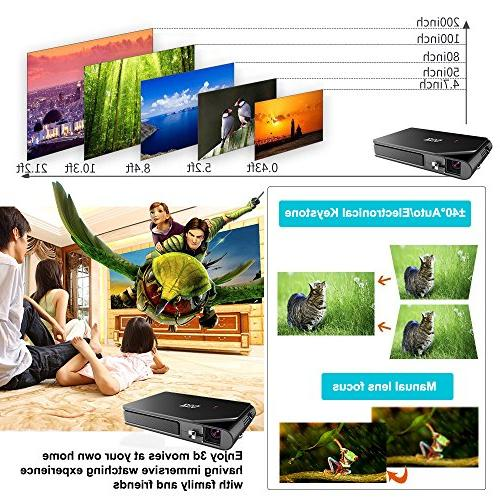 Mini Pocket DLP Wireless Smart WiFi Airplay HD Home Theater Projector Audio Pico Tablet