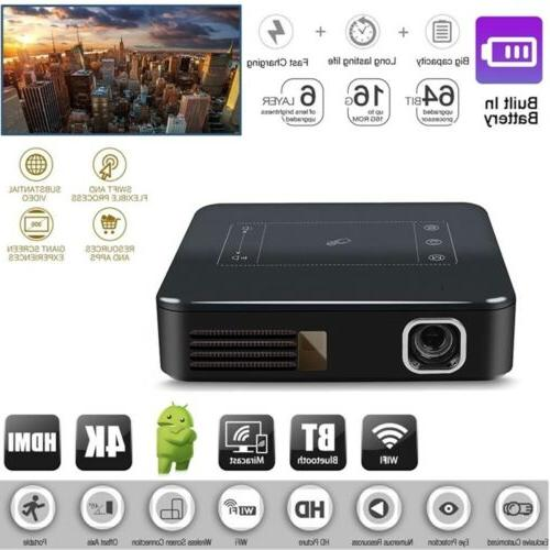 New Mini Android 7.1 DLP Home Cinema Full HD 4K 1080P Theate