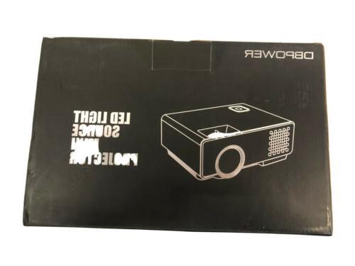 2018 led light source black mini projector