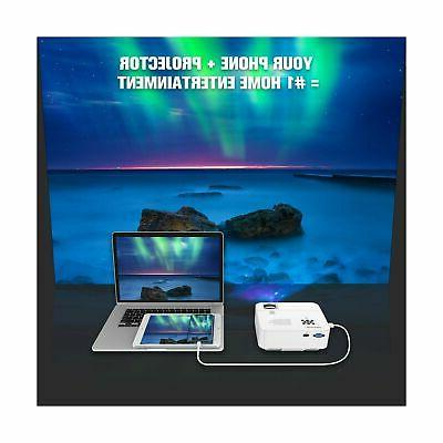 2019 Mini Projector, DBPOWER 2400Lux Projector Ho...