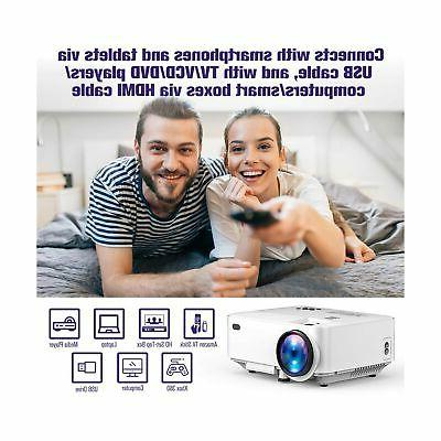 2019 DBPOWER 2400Lux Portable Projector for Ho...