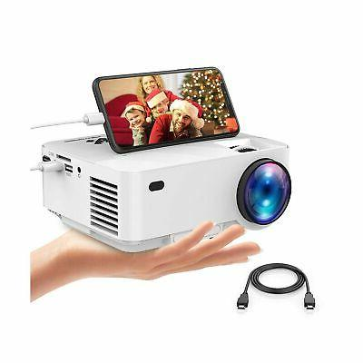 2019 upgraded mini projector 2400lux portable video