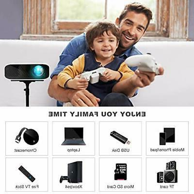 ELEPHAS Mini Projector, 5000 HD 1080P with