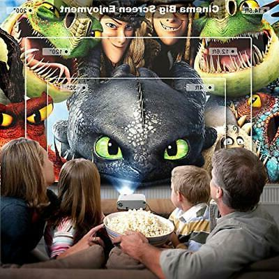 ELEPHAS Movie Projector, Full HD 1080P with
