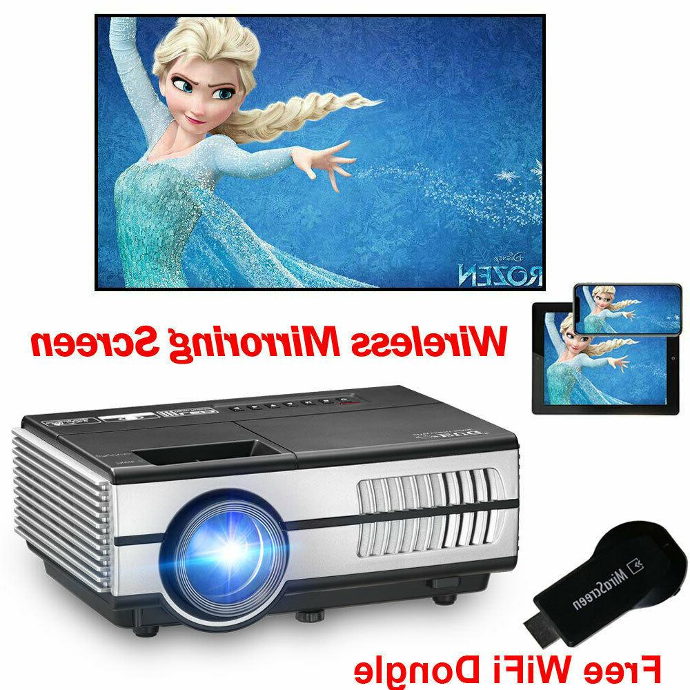 2800lm portable mini projector wifi dongle wireless