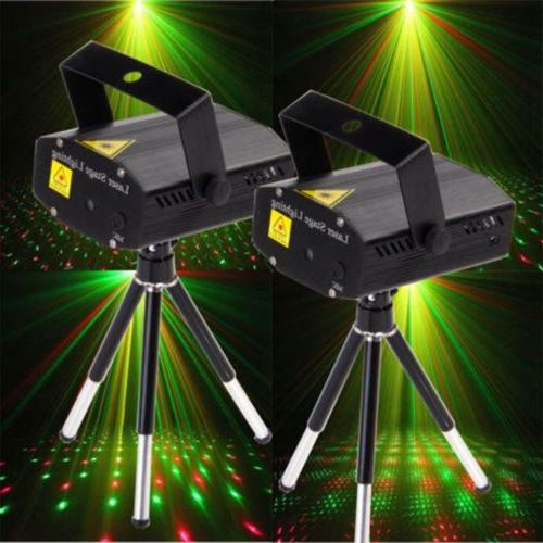 2x laser projector stage lights mini led