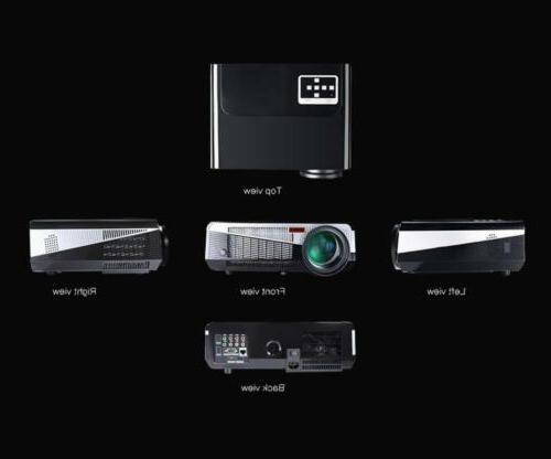 3000 Lumen Bluetooth LED Projector Home Theater AV vip