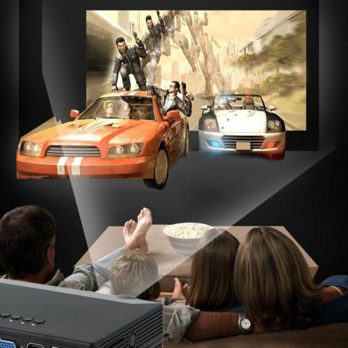 3D 1080P Mini Projector LED Home USB HDMI BE