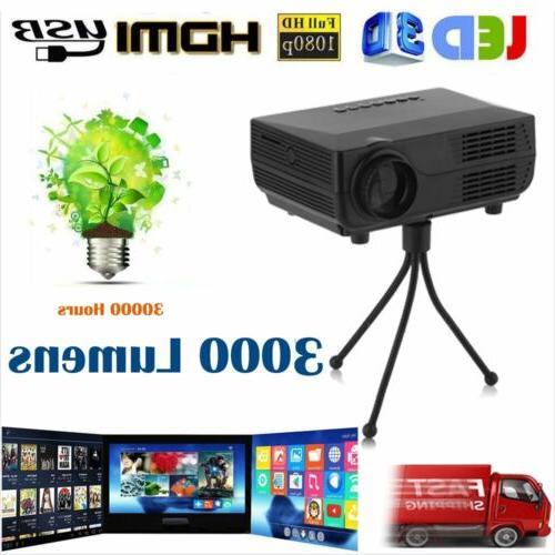 1080p hd video mini 3d 3000 lumens