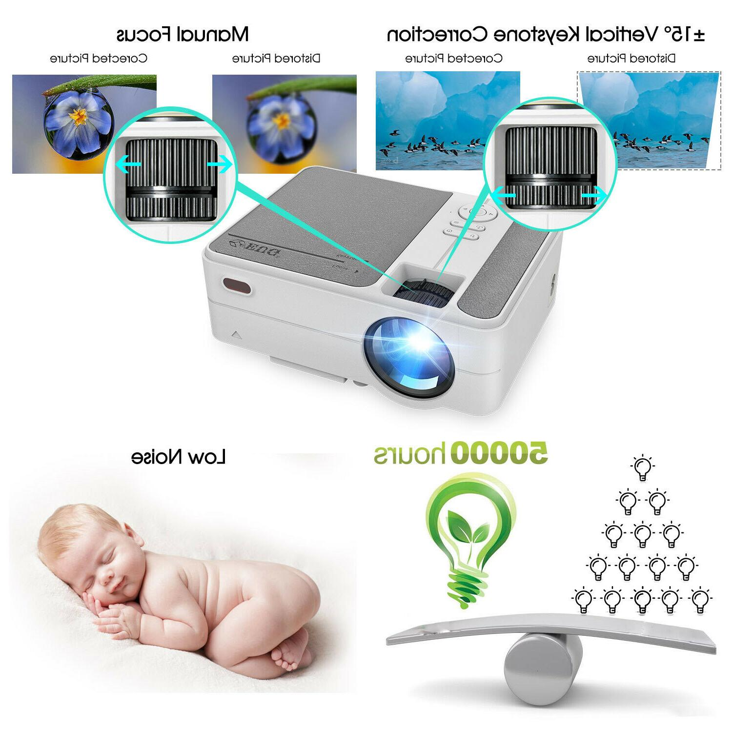 HD 3500LMS Mini Projector Android Blue-tooth for Youtube Phone