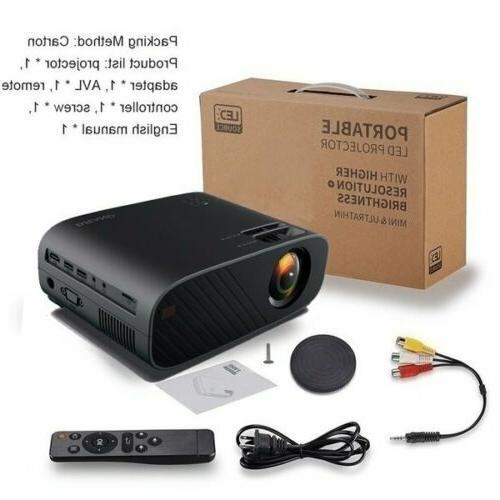 4K 1080P Bluetooth 3D Mini Home 18000 Lumens