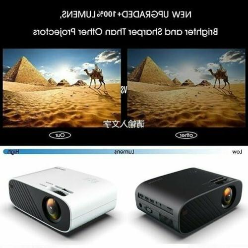 4K LED Video Projector Home Cinema 18000LM HDMI lot